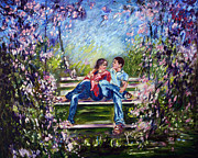 Garden Scene Digital Art Posters - Spring Poster by Harsh Malik