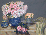 Most Popular Paintings - Spring in a blue vase by Monica Caballero