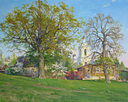 Lanscape Paintings - Spring in Kaluga by Victoria Kharchenko