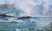 Canada Paintings - Spring in Niagara Falls by Ylli Haruni