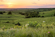 Kansas Landscape Art Framed Prints - Spring in the Flint Hills Framed Print by Scott Bean