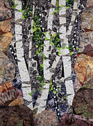Birch Trees Tapestries - Textiles - Spring in the Mountains by Linda Beach