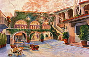 Watercolor Southwest Landscape Paintings - Spring In Tlaquepaque by Marilyn Smith