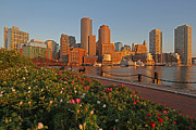 All Acrylic Prints - Spring into Downtown Boston by Juergen Roth