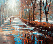 Overcast Day Painting Posters - Spring is coming Poster by Dmitry Spiros