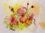 Pen And Ink Drawing Painting Metal Prints - Spring is Coming Metal Print by Laura Lee Zanghetti