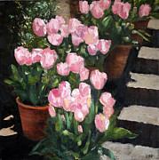 Pallet Knife Prints - Spring is here 1 Print by Olga Yug