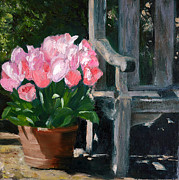 Pallet Knife Prints - Spring is here 2 Print by Olga Yug