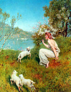 Jesus Images Digital Art - Spring by John Collier