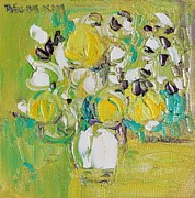 Becky Kim Artist Painting Metal Prints - Spring Joy Metal Print by Becky Kim