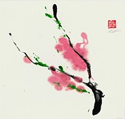 Sumie Framed Prints - Spring  Framed Print by Lilith Ohan