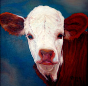 Steer Paintings - Spring by MarvL Roussan