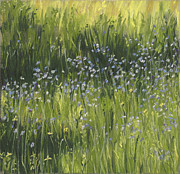 Purple Flowers Pastels - Spring Meadow by Susan Frank