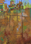 Grid Paintings - Spring Melt by Douglas Simonson