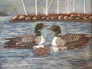 Enjoying Pastels Prints - Spring on a Northern Lake Print by Richard Goohs