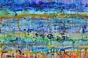 Sinatra Paintings - Spring on Jupiter and Mars by Regina Valluzzi