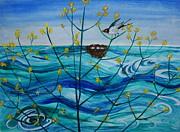 Veronica Rickard Prints - Spring on Lake Ontario Print by Veronica Rickard