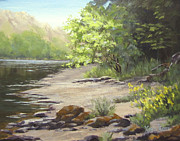 River Paintings - Spring on my Mind by Karen Ilari
