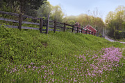 Old Country Roads Photo Posters - Spring on the farm Poster by Bill  Wakeley