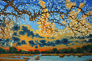 Cherry Blossoms Paintings - Spring on the Marsh by Dwain Ray