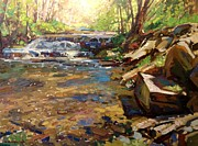 Swimming Hole Paintings - Spring on Toole Creek by Kyle Buckland