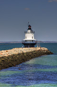 Ledge Photo Posters - Spring Point Ledge Light Poster by Joann Vitali