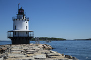 Ledge Photos - Spring Point Ledge Light by Karol  Livote