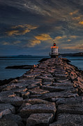 Maine Shore Prints - Spring Point Ledge Lighthouse Print by Susan Candelario