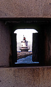 Maine Lighthouses Posters - Spring Point Ledge Lightouse Poster by Skip Willits