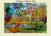 Spring Pond Photoart Father's Day Print by Debbie Portwood