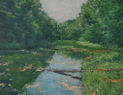 Gregory Arnett Paintings - Spring Pond Reflection by Gregory Arnett