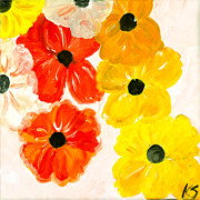 Spring Time Painting Originals - Spring Poppies  by Katy  Scott