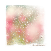 Light Touch Posters - Spring Rain Drops. Elegant KnickKnacks from JennyRainbow Poster by Jenny Rainbow
