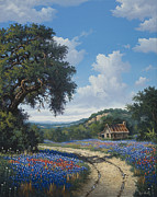 Live Oak Trees Paintings - Spring Retreat by Kyle Wood