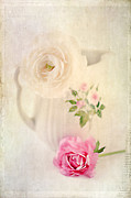 Textured Floral Framed Prints - Spring Romance Framed Print by Darren Fisher