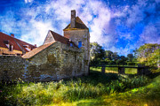 Castle Dungeon Prints - Spring Romance in the French Countryside Print by Debra and Dave Vanderlaan