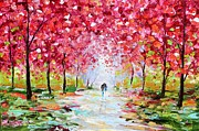 Impasto Oil Paintings - Spring Romance by Karen Tarlton