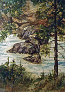 Wa Paintings - Spring Runoff 1 by Lynne Haines