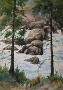 Wa Paintings - Spring Runoff 2 by Lynne Haines