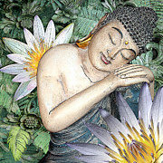 Buddhist Mixed Media - Spring Serenity by Christopher Beikmann