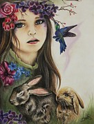 Colored Pencil Pastels Prints - Spring  Print by Sheena Pike