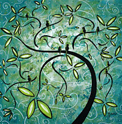 Green Painting Posters - Spring Shine by MADART Poster by Megan Duncanson