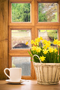 Window  Posters - Spring showers Poster by Christopher and Amanda Elwell