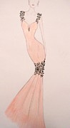 Evening Gown Pastels - Spring Soiree by Christine Corretti