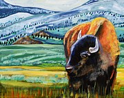 Yellowstone Painting Originals - Spring Storm by Harriet Peck Taylor