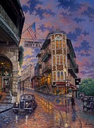 Eureka Springs Prints - Spring Street Memories Print by Kyle Wood