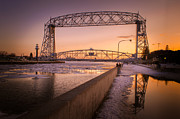 Duluth Art - Spring Sunset In Canal Park by Shutter Happens Photography