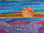 Print Tapestries - Textiles Prints - Spring Sunset Print by Susan Rienzo