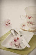Crockery Framed Prints - Spring Table Setting Framed Print by Christopher Elwell and Amanda Haselock