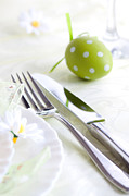 Mythja Posters - Spring table setting Poster by Mythja  Photography